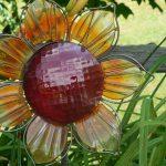 Outdoor Metal Flowers Garden Stakes