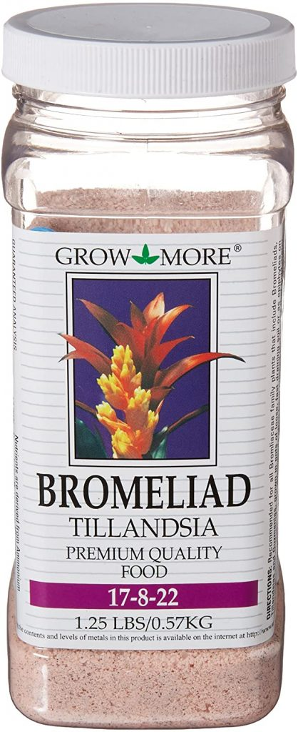 Grow More Bromeliad Tillandsia Food 17-8-22 Hibiscus Fertilizer