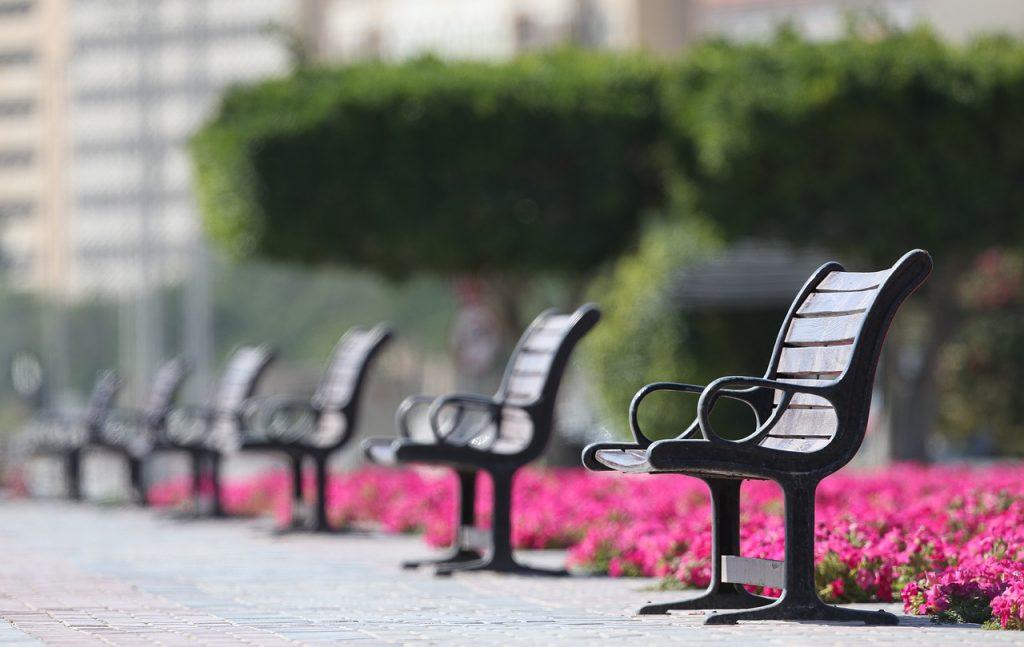 Metal Bench Garden Seat
